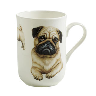 Porcelánový Hrnek Cashmere PETS pes Mopslík 300 ml - Maxwell&Williams