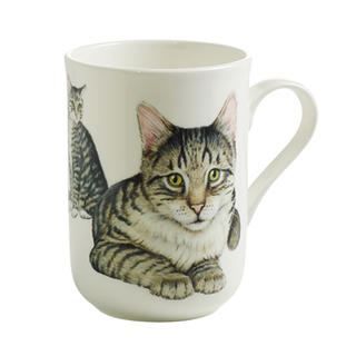 Porcelánový Hrnek Cashmere PETS CAT Krátkosrstá kočka 300 ml - Maxwell&Williams