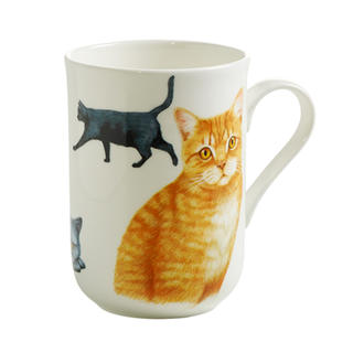 Porcelánový Hrnek Cashmere PETS CAT Britská kočka 300 ml - Maxwell&Williams