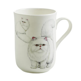 Porcelánový Hrnek Cashmere PETS CAT Perská kočka 300 ml - Maxwell&Williams