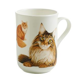 Porcelánový Hrnek Cashmere PETS CAT Mainská mývalí kočka 300 ml-Maxwell&Williams