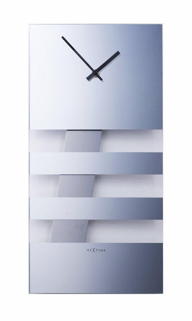 Nástěnné hodiny BOLD STRIPES 19 x 38 cm zrcadlové - NEXTIME
