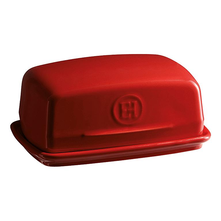 Dóza na máslo Burgundy granátová červená 16 x 11 cm - Emile Henry