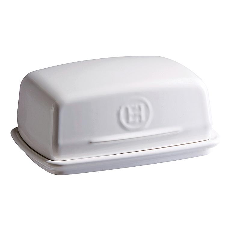 Dóza na máslo Flour bílá nugátová 16 x 11 cm - Emile Henry