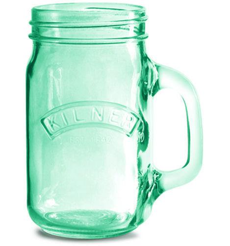 Skleněný džbánek s rukojetí 0,35l zelený - Kilner