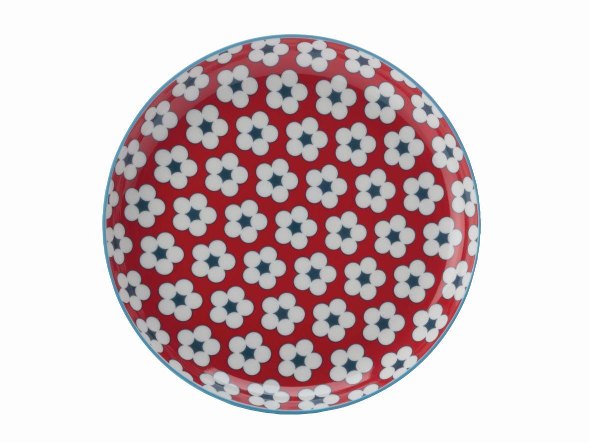 Dezertní talíř Cotton Bud 18,5 cm červený - Maxwell&Williams