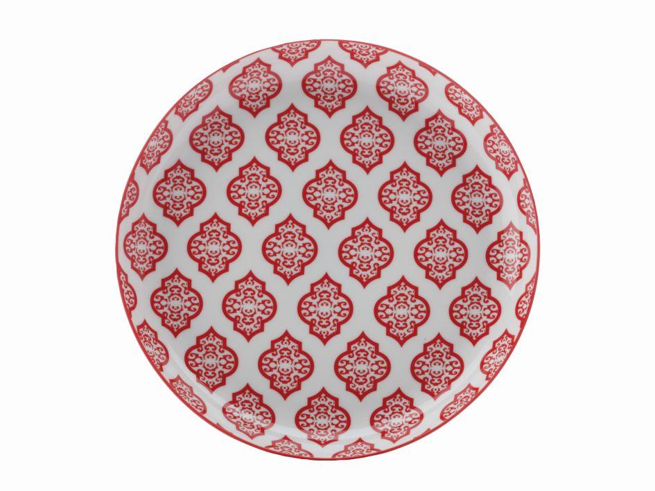 Mělký talíř Alcazar Red Circ 23 cm červený - Maxwell&Williams