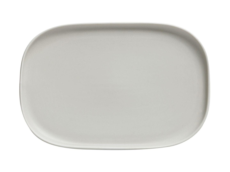 Obdélníkový mělký talíř Elemental 23,5 x 16 cm šedý - Maxwell&Williams