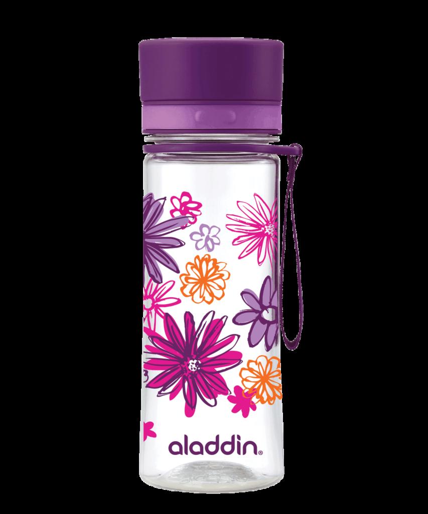 Láhev na vodu 350ml fialová s potiskem AVEO - Aladdin