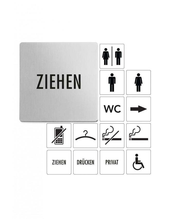 Tabulka s nápisem Ziehen - ZACK