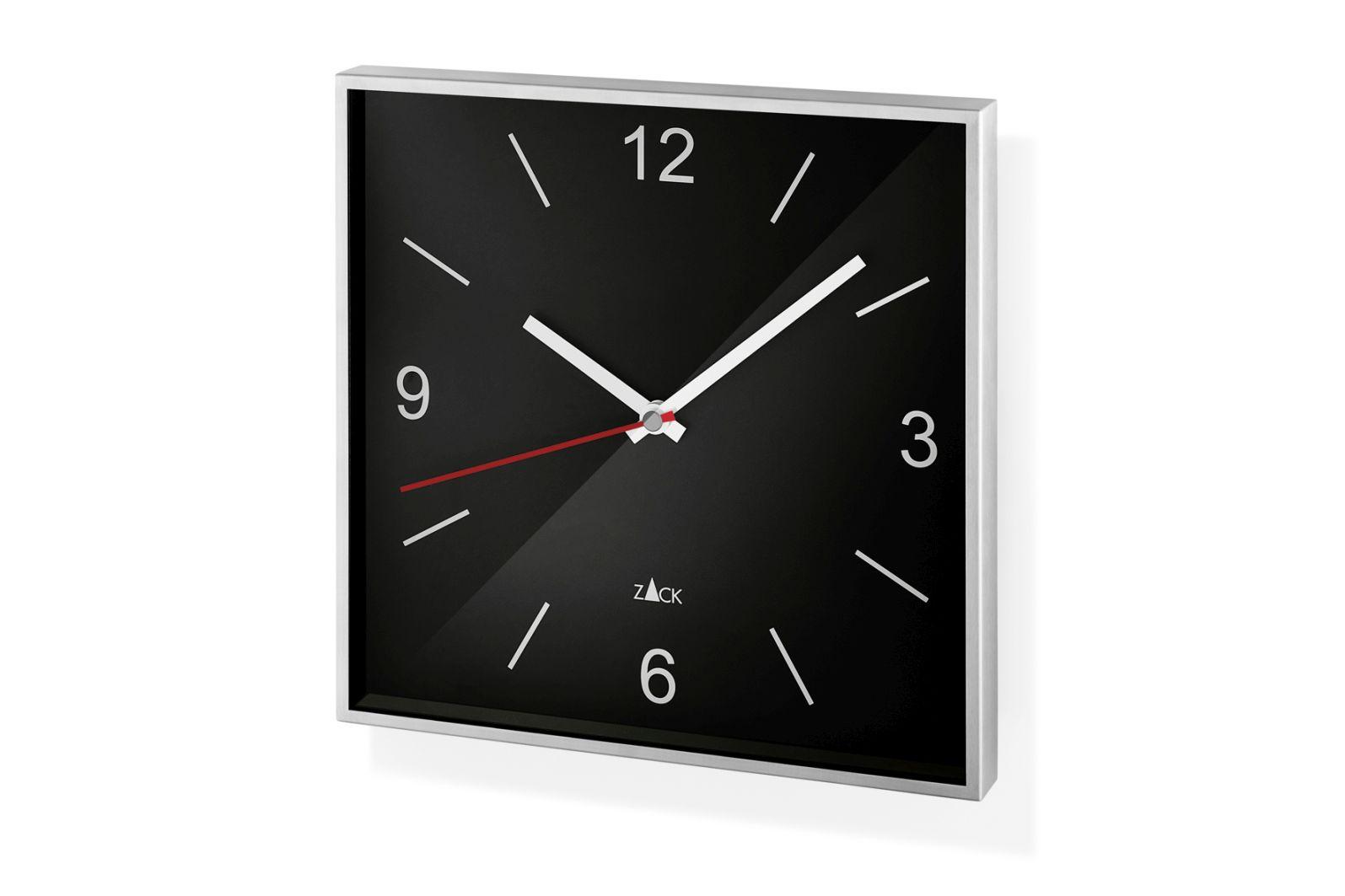 Nástěnné hodiny SILLAR, černé - ZACK
