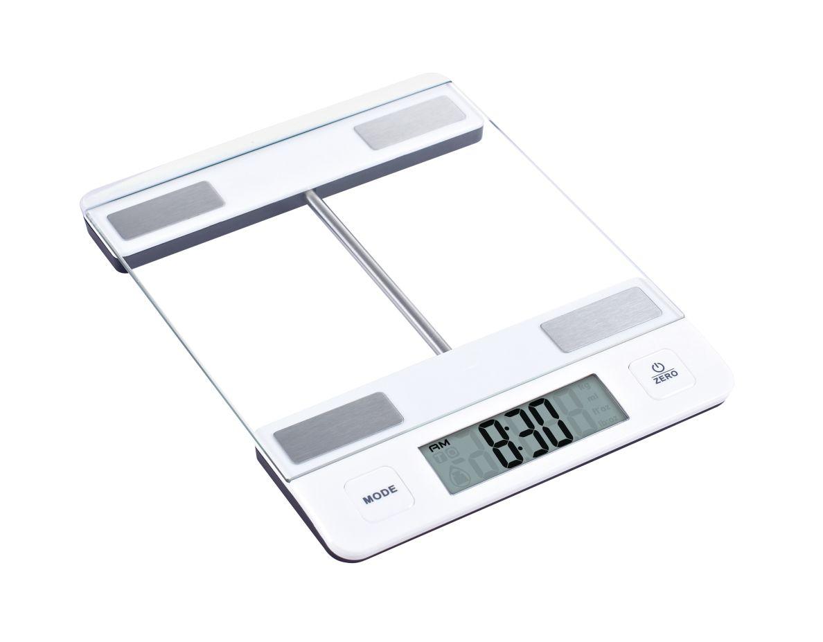 Kuchyňská Digitální váha do10kg skleněná bílá - Carlo Giannini