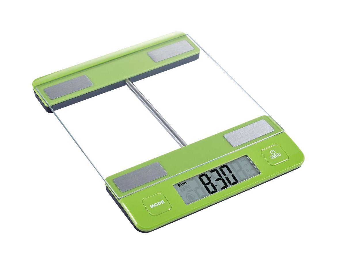 Kuchyňská Digitální váha do10kg skleněná zelená - Carlo Giannini