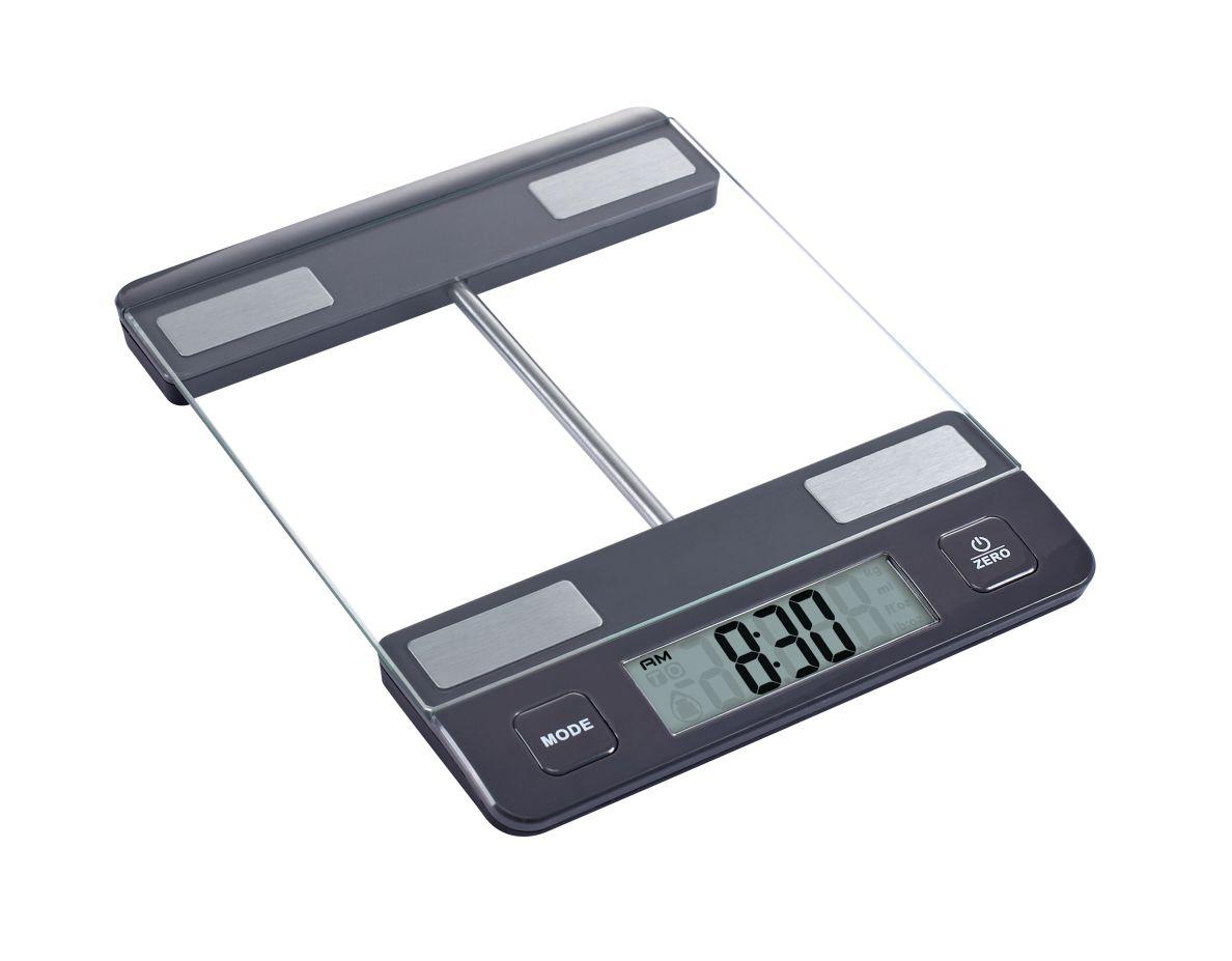 Kuchyňská Digitální váha do10kg skleněná antracitová - Carlo Giannini