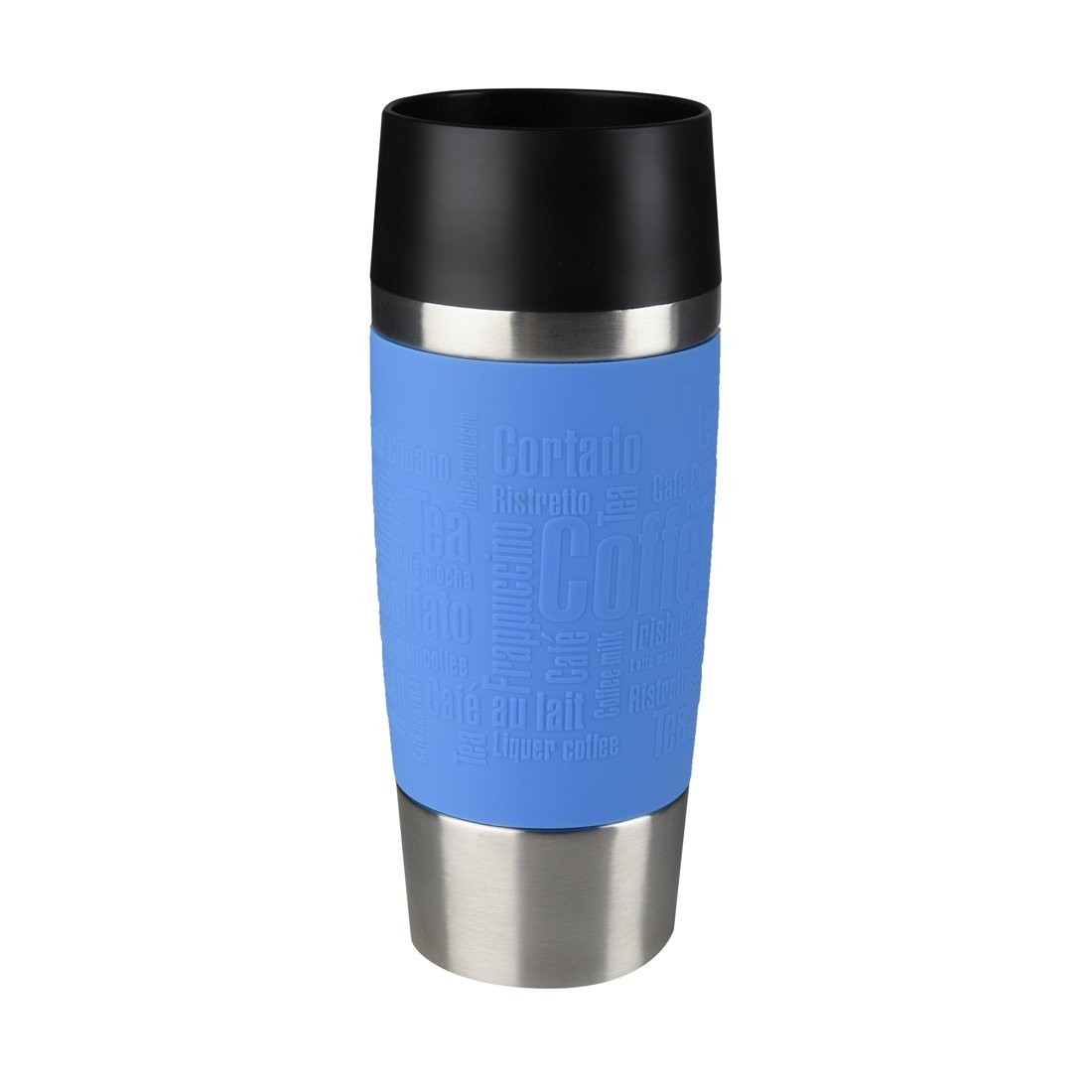 Termohrnek TRAVEL MUG Quick press 360 ml modrý - Emsa