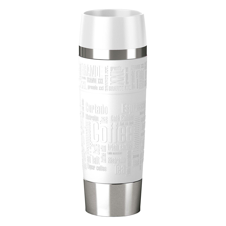 Termohrnek TRAVEL MUG Grande Quick press 500 ml bílý - Emsa