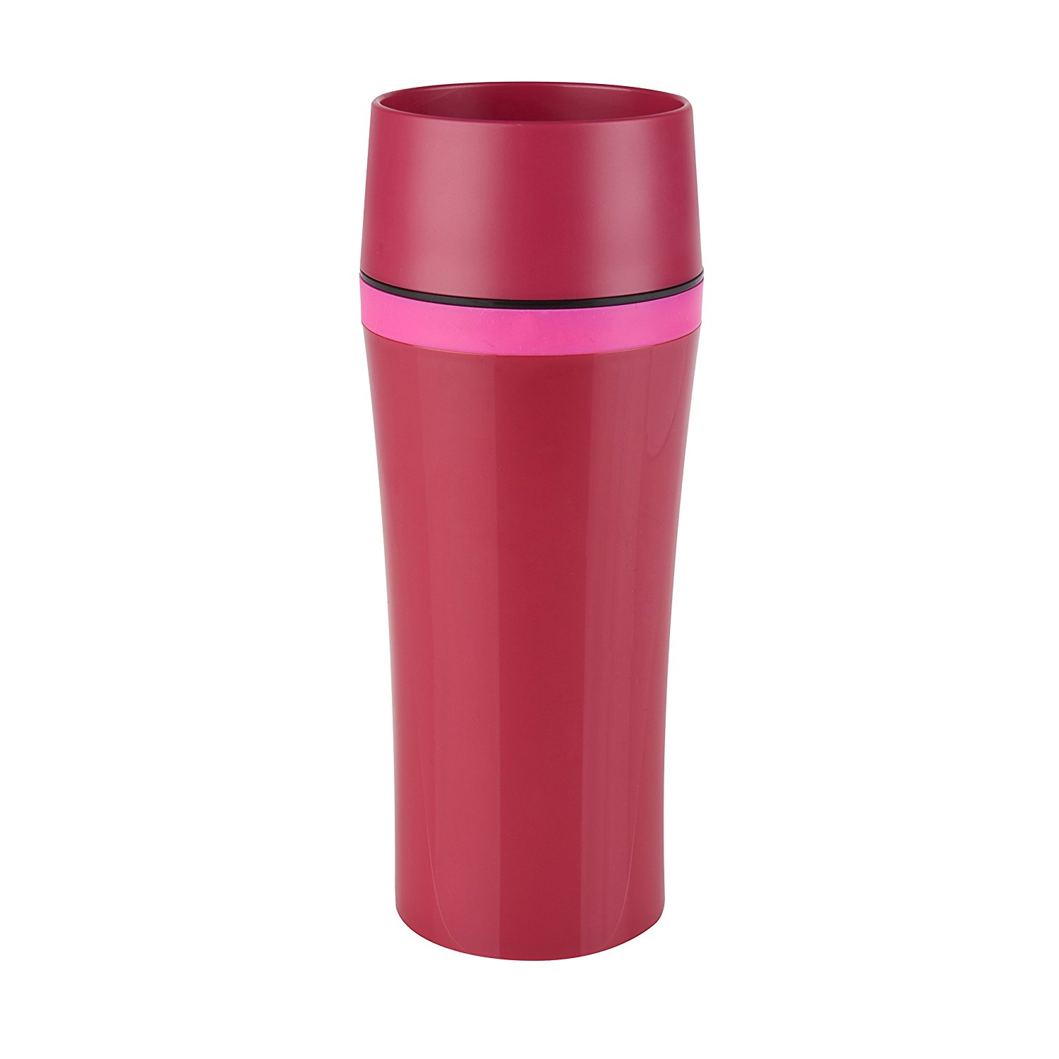 Termohrnek TRAVEL MUG FUN Quick press 360 ml malinový - Emsa