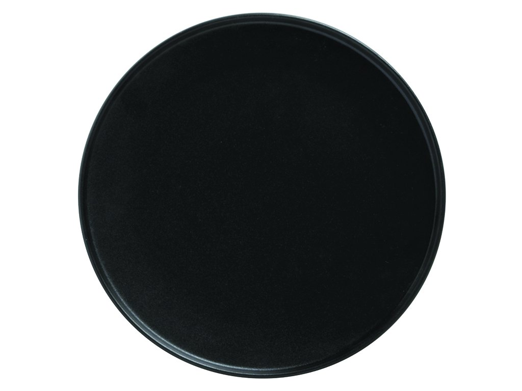 Porcelánový mělký talíř s vyšším okrajem CAVIAR 26,5 cm černý - Maxwell&Williams