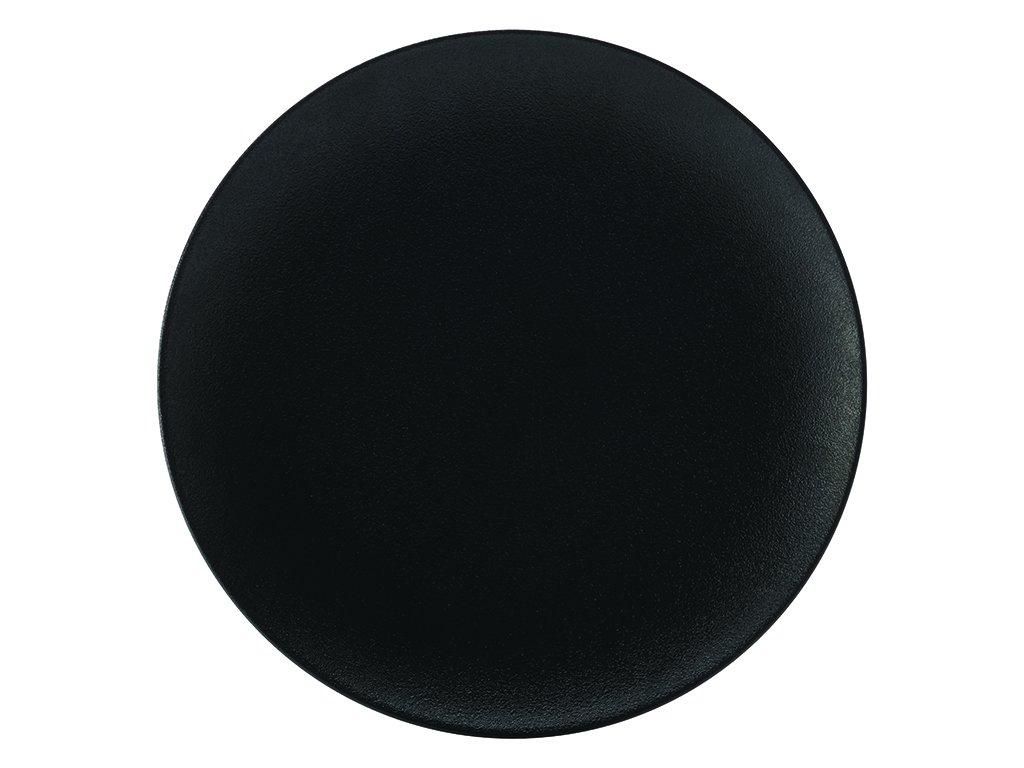 Porcelánový Podnos kulatý CAVIAR 40 cm černý - Maxwell&Williams