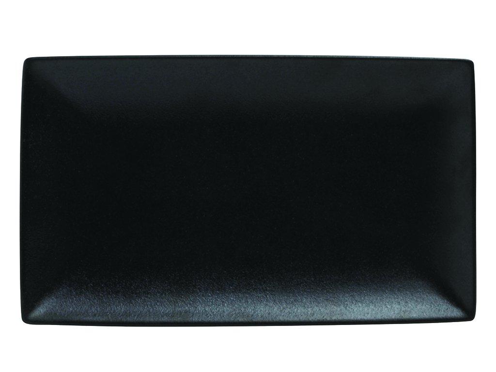 Obdélníkový talíř CAVIAR 27,5 x 16 cm černý - Maxwell&Williams