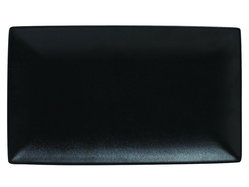 Obdélníkový talíř CAVIAR 34,5 x 19,5 cm černý - Maxwell&Williams