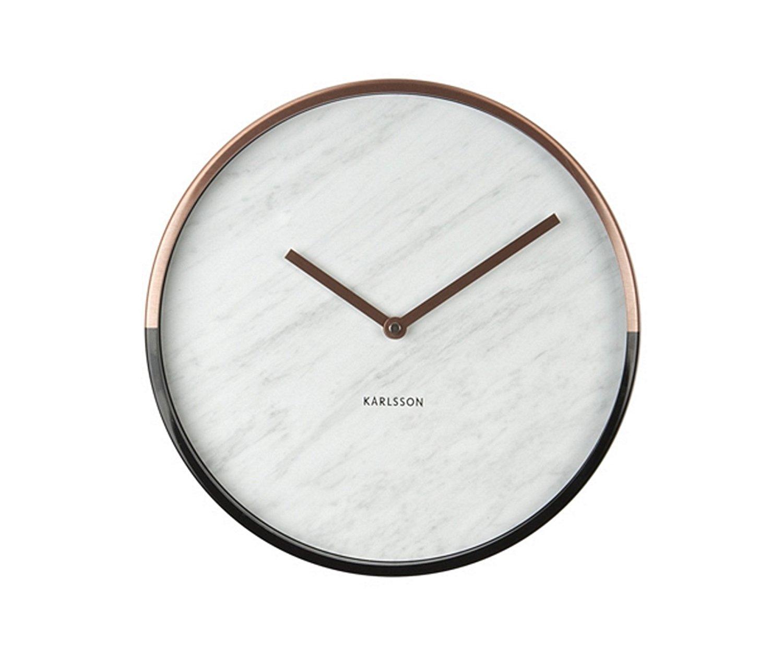 Nástěnné hodiny Lacquered white 30 cm bílé - Karlsson