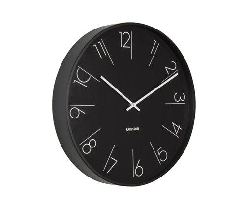 Nástěnné hodiny Metal black 40 cm černé - Karlsson