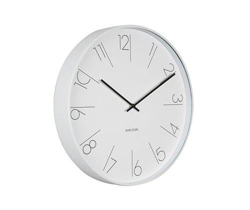 Nástěnné hodiny Metal white 40 cm bílé - Karlsson