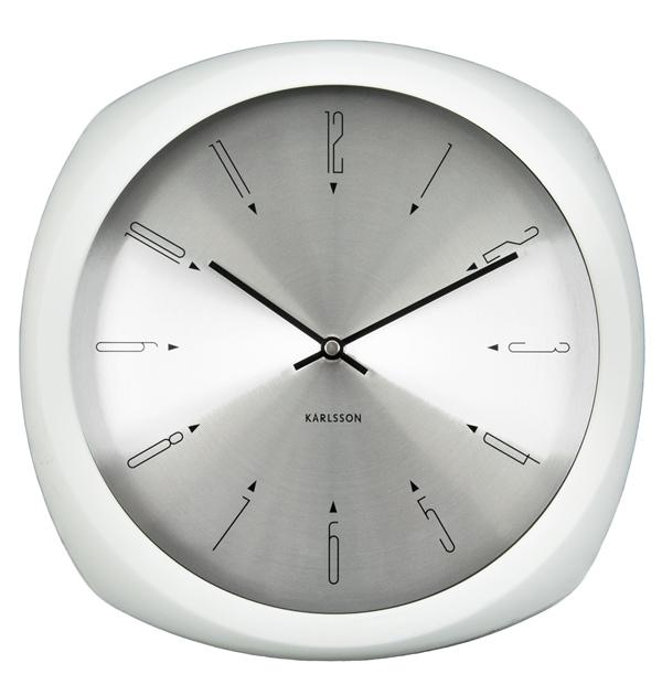 Nástěnné hodiny Lacquered Lacquered white 31 cm bílé - Karlsson