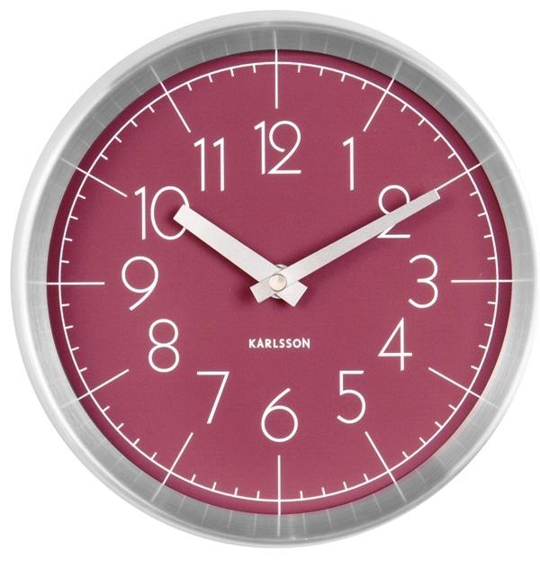 Fotografie Červené nástěnné hodiny Karlsson Convex