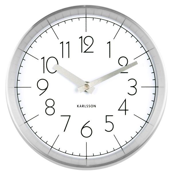 Nástěnné hodiny Ground metal white 22 cm bílé - Karlsson