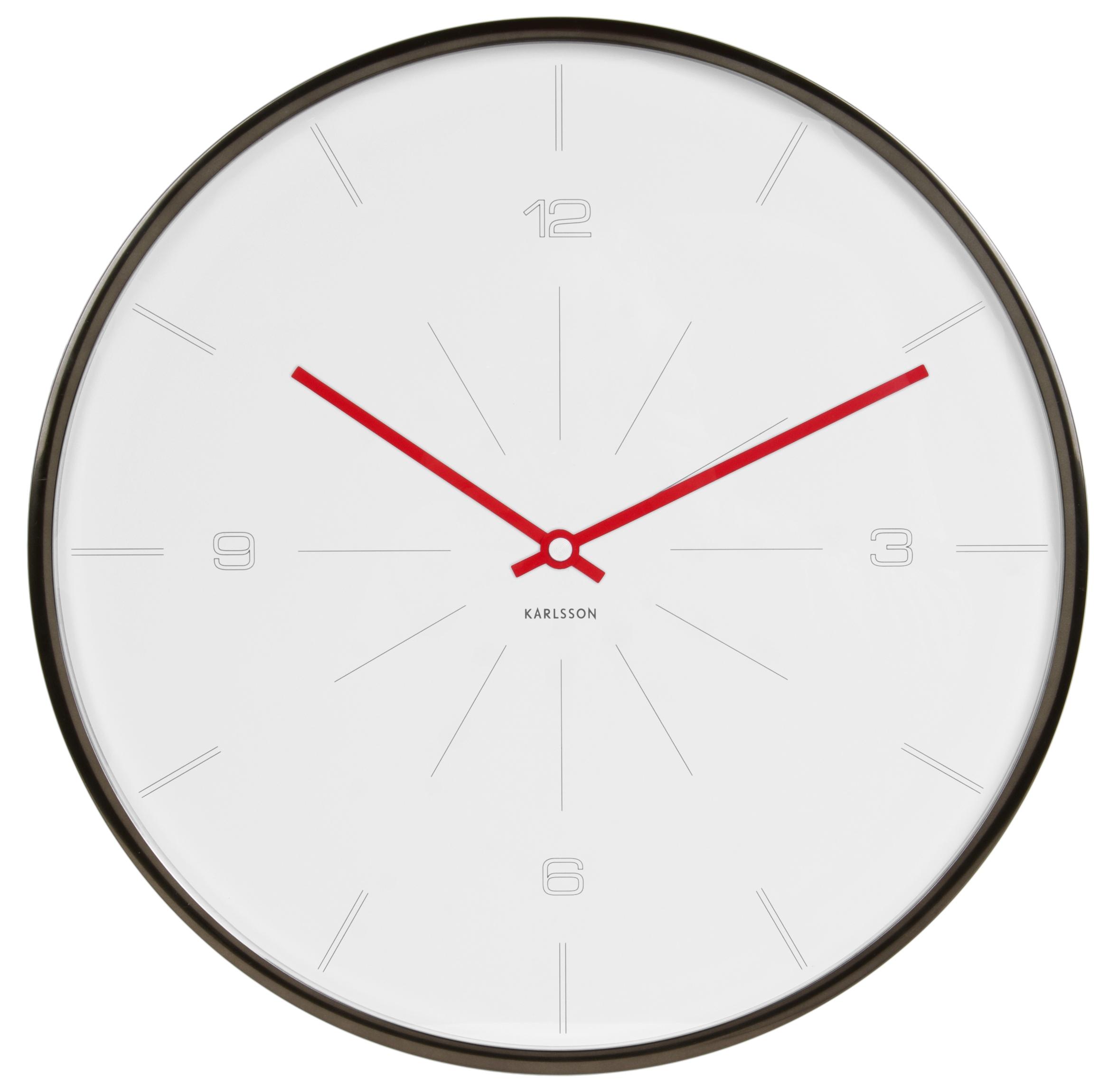 Nástěnné hodiny SLIM SLIM White 40 cm bílé - Karlsson