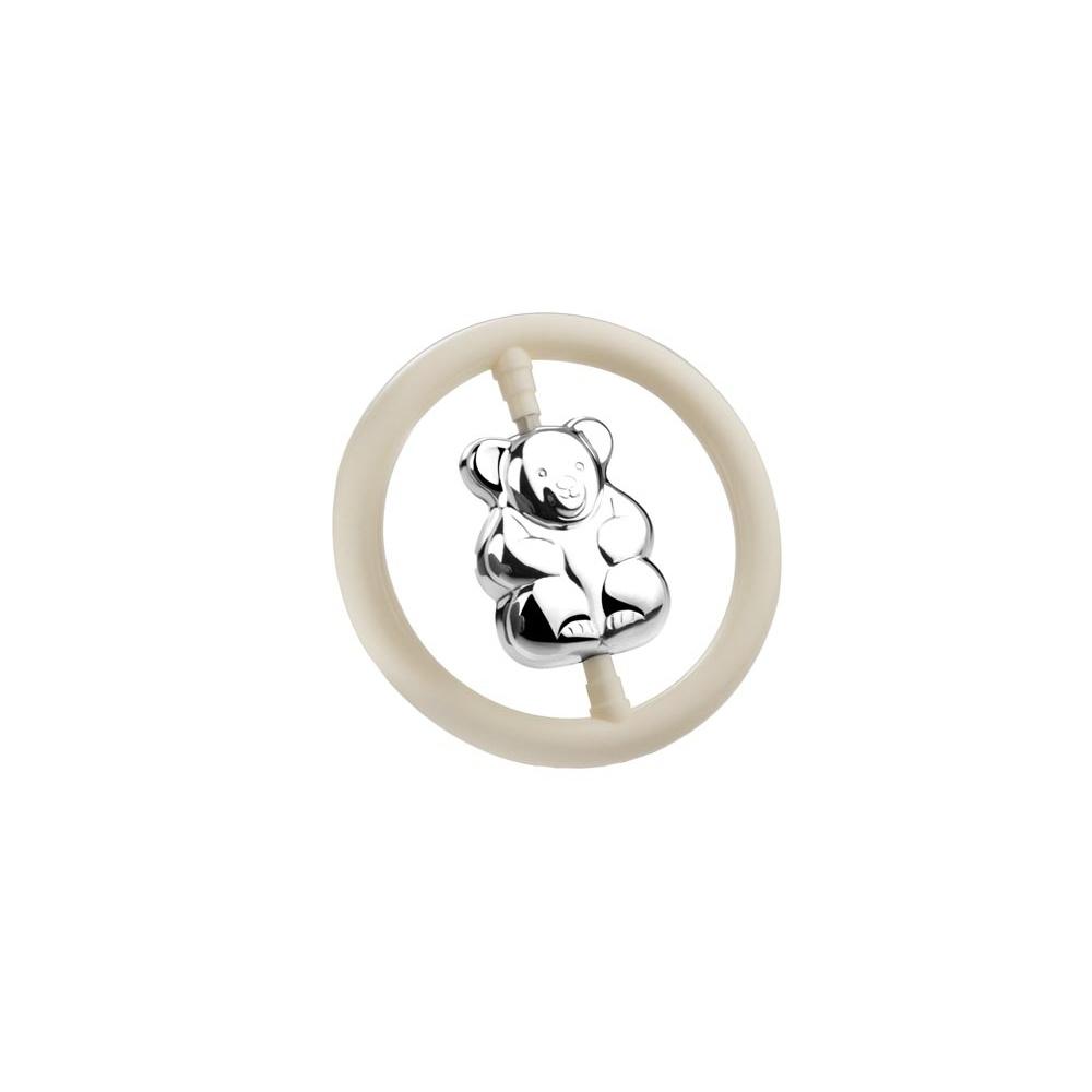 Postříbřené chrastítko medvídek - Zilverstad
