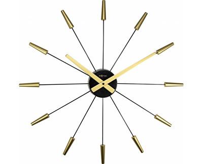 Designové hodiny PLUG INN 60 cm, kov/zlaté - NEXTIME