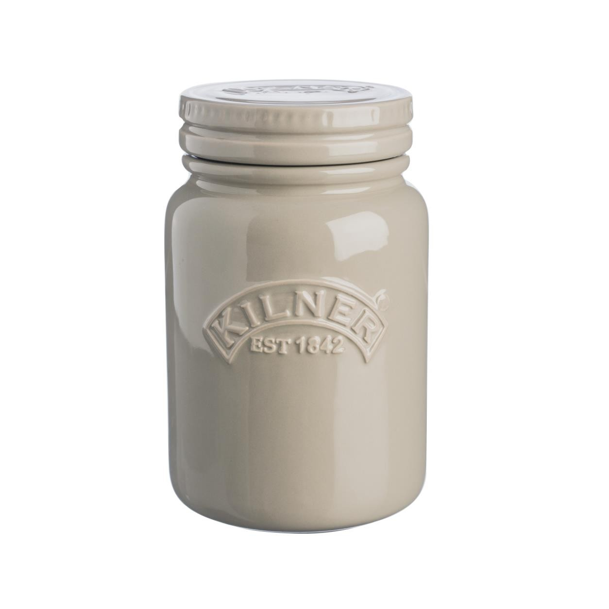Dóza na suché potraviny 0,6 l oblázkově šedá - Kilner