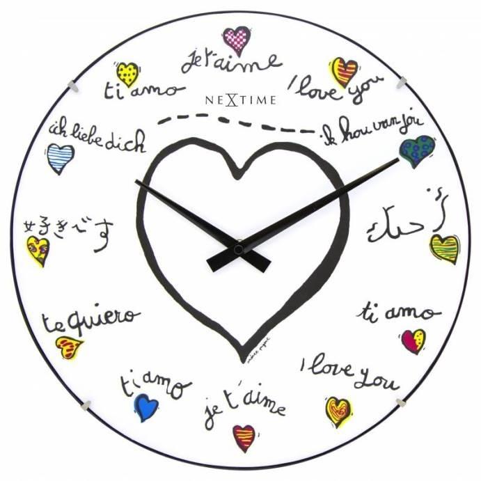 Nástěnné hodiny Loving You Dome 35 cm - NEXTIME