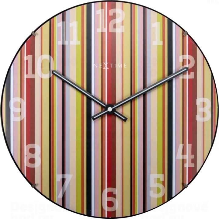Nástěnné hodiny Dots Dome 35 cm - NEXTIME