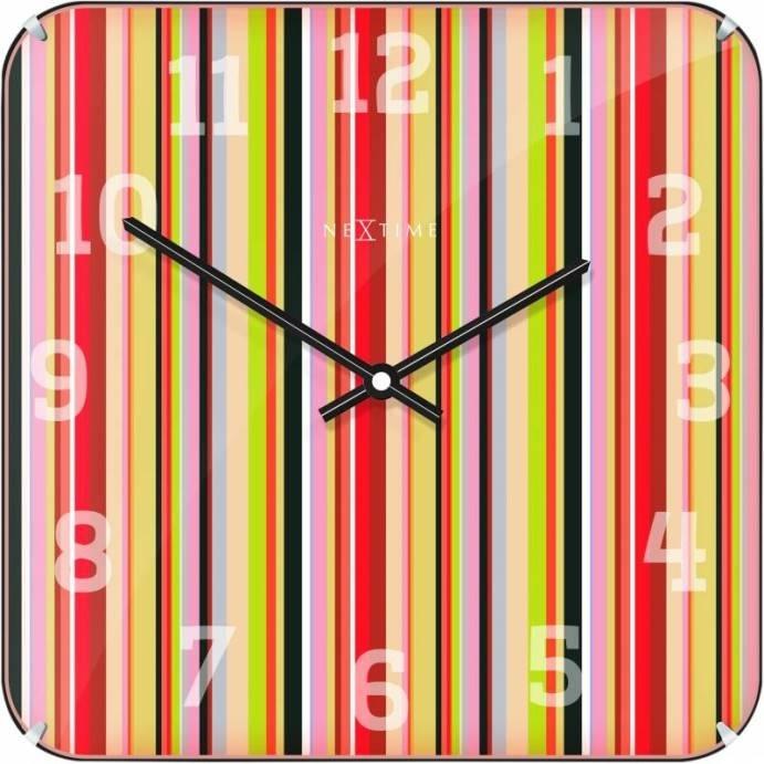 Nástěnné hodiny Smithy Dome Square 35 x 35 cm - NEXTIME