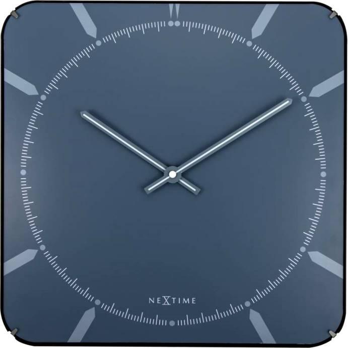 Nástěnné hodiny Michael Dome Blue 35 x 35 cm - NEXTIME