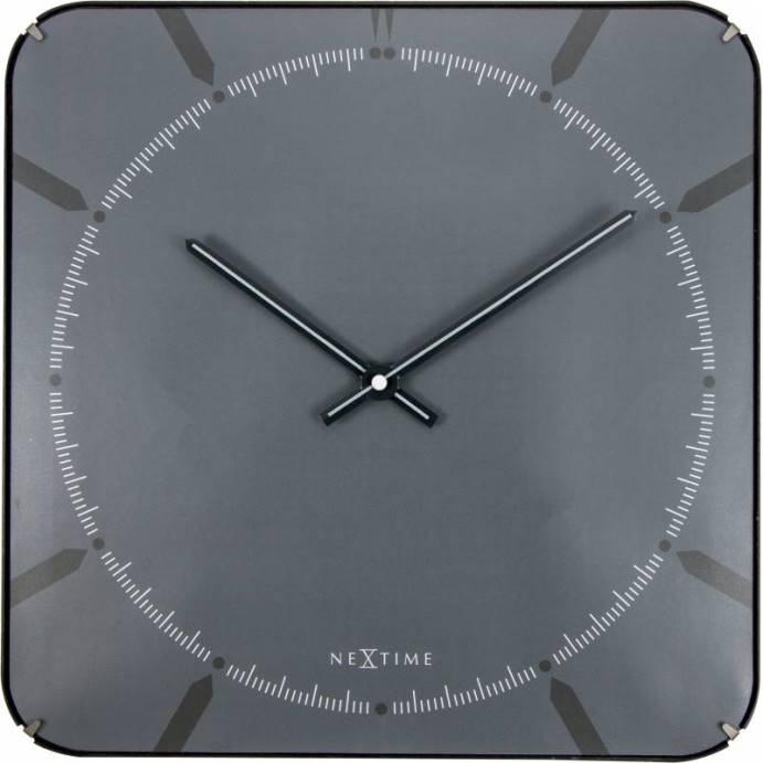 Nástěnné hodiny Michael Dome Grey35 x 35 cm - NEXTIME