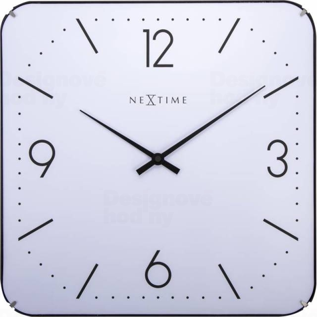Nástěnné hodiny Square Dome 35 x 35 cm - NEXTIME