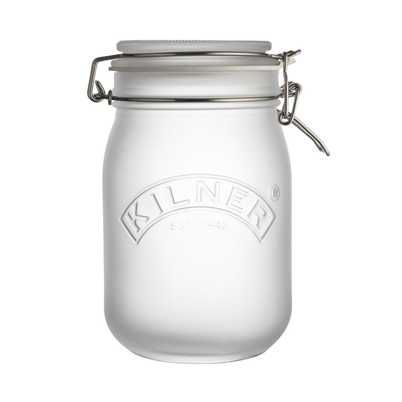 KILNER zavařovací sklenice s klipem 1 l bílá - Kilner