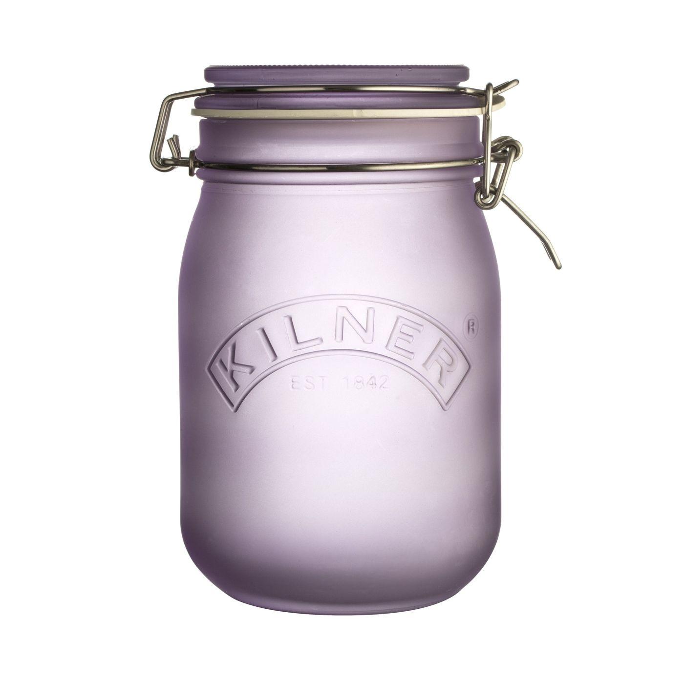 KILNER zavařovací sklenice s klipem 1 l fialová - Kilner