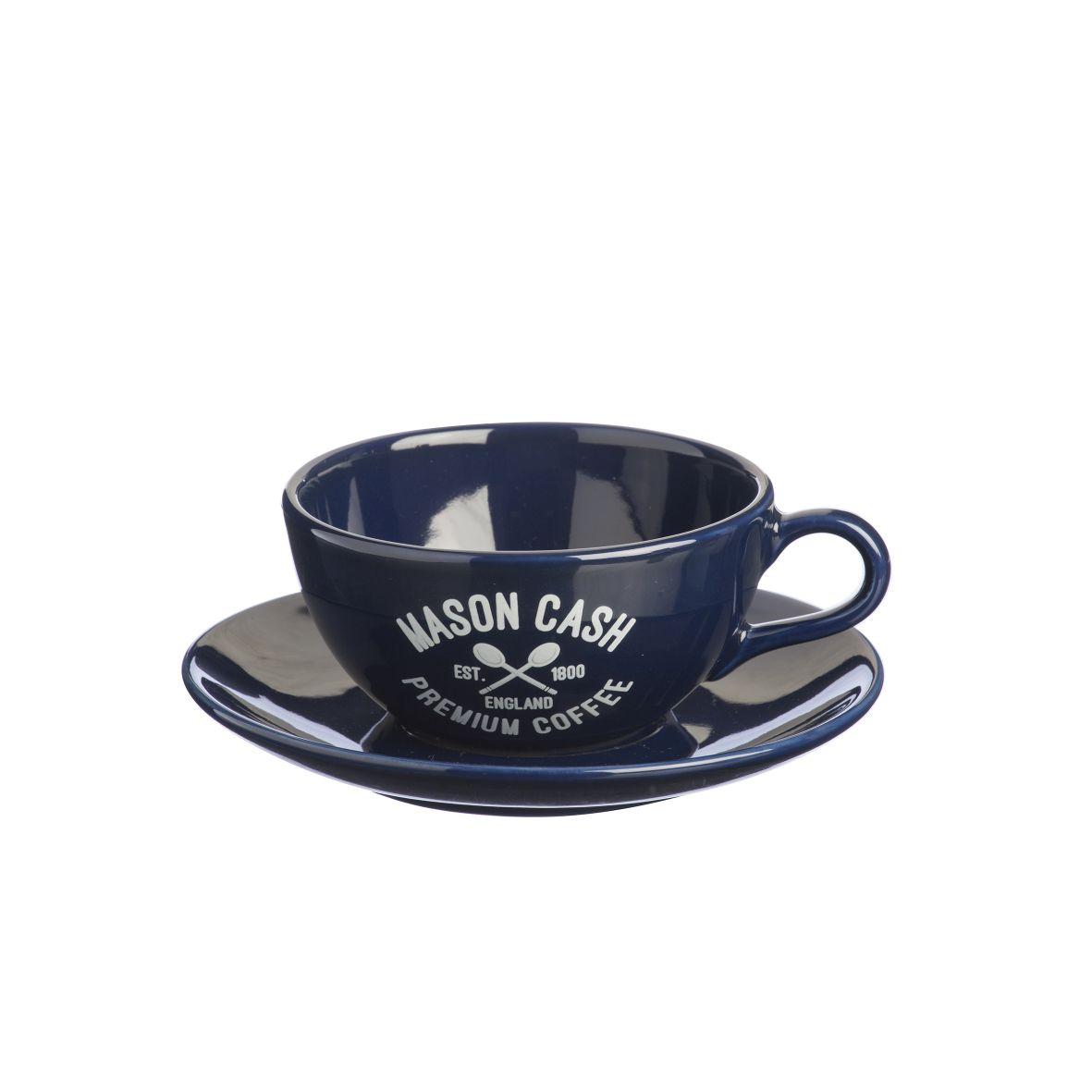 Cappuccino šálek s podšálkem 0,35l Varsity modrá - Mason Cash