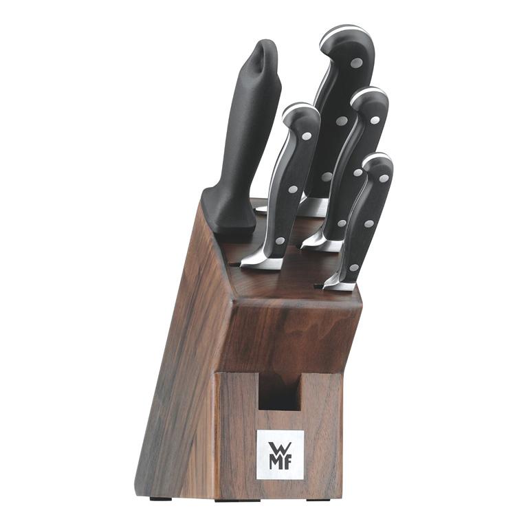 Blok s noži Spitzenklasse Plus 6 ks, ořech - WMF