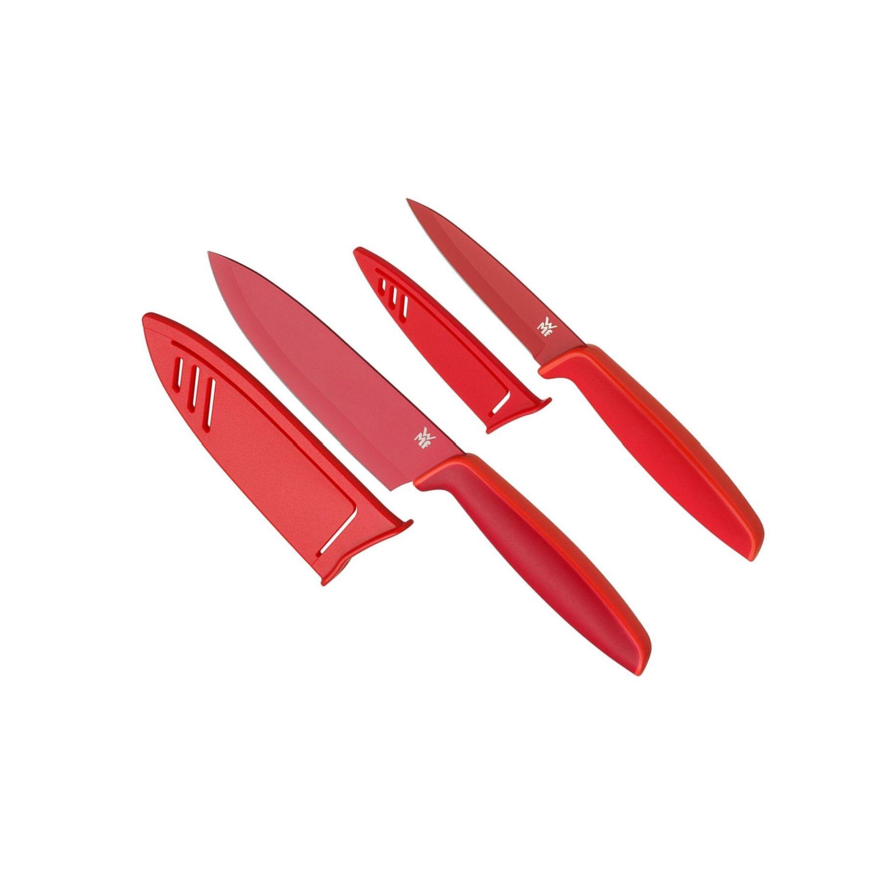 Set 2 ks kuchyňských nožů TOUCH, červený - WMF