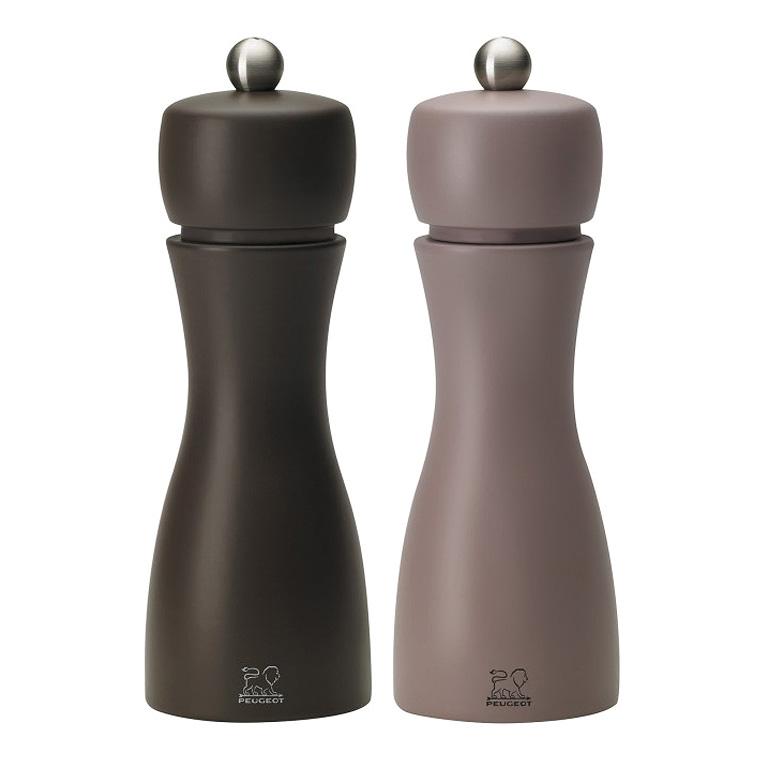 Set mlýnků na pepř a sůl zima TAHITI 15 cm hnědá/béžovošedá - Peugeot