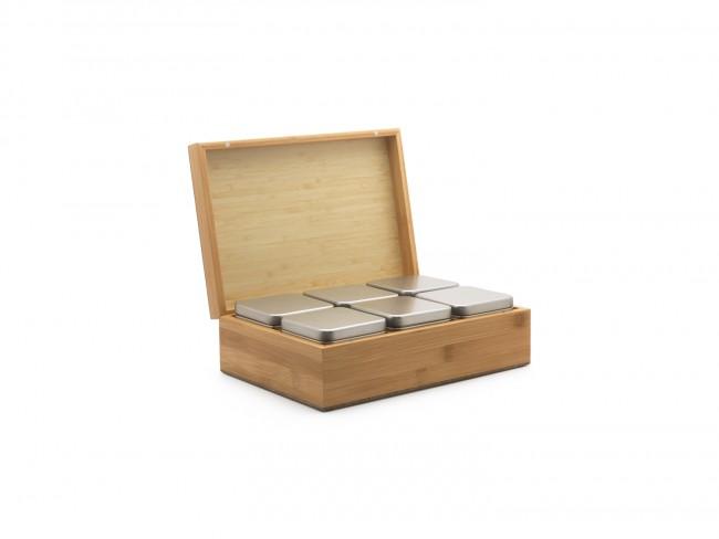 Krabička na sypaný čaj 6 přihrádek Bamboo - Bredemeijer