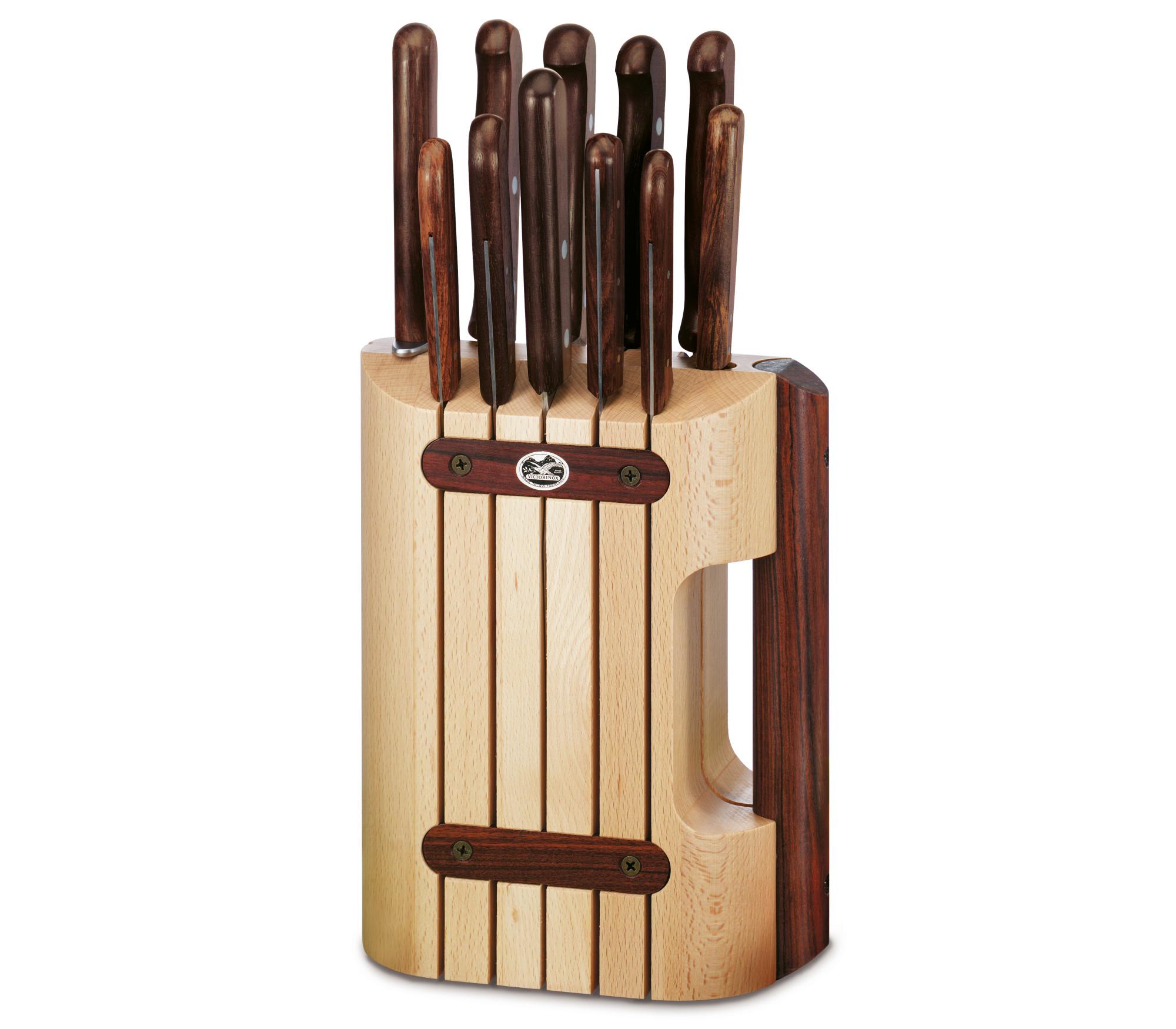 Sada nožů s blokem 11 ks ROSEWOOD dřevěná rukojeť - Victorinox
