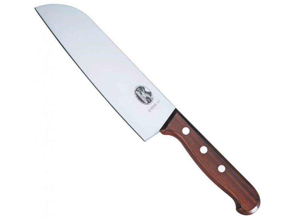 Japonský Nůž Santoku 17 cm ROSEWOOD dřevěná rukojeť - Victorinox